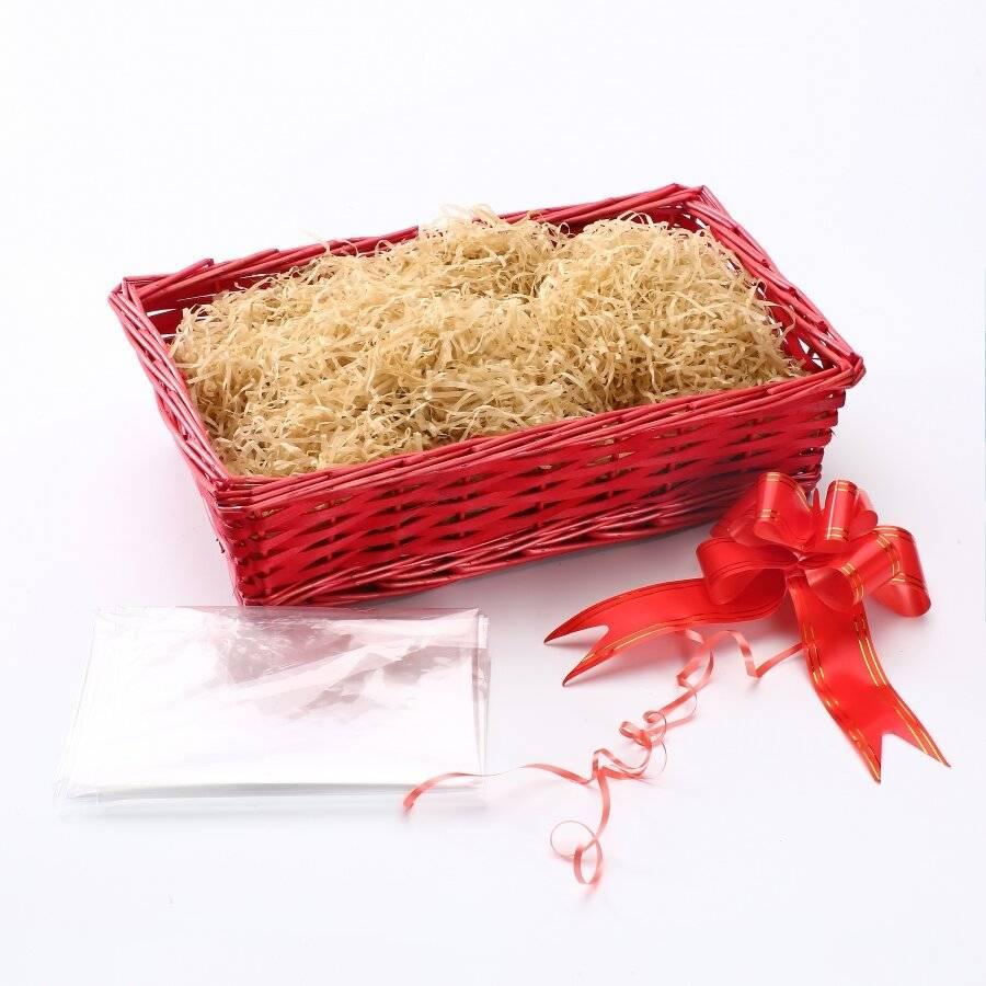 Woodluv Create Your Own Gift Hamper Rectangular Wicker Basket