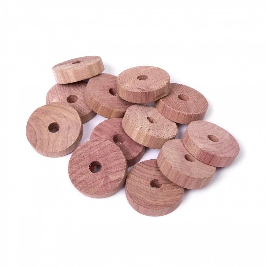 Woodluv 12 PCs Natural Aromatic Cedar Wood Moth Repellent Balls