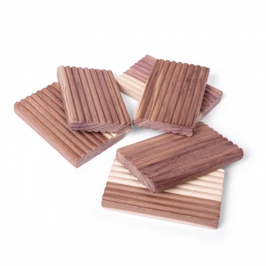 Woodluv 4 PCs Natural Aromatic Cedar Wood Moth Repellent Balls