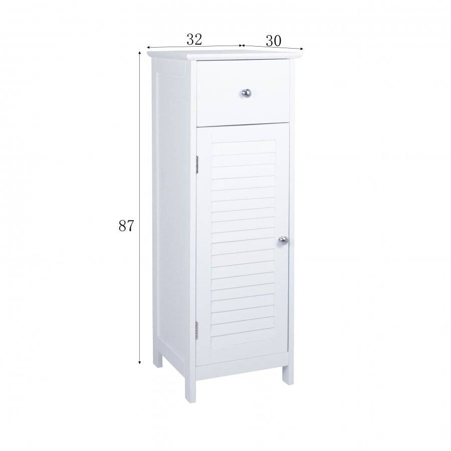Woodluv Free Standing  MDF Bathroom Storag Cabinet Unit - White