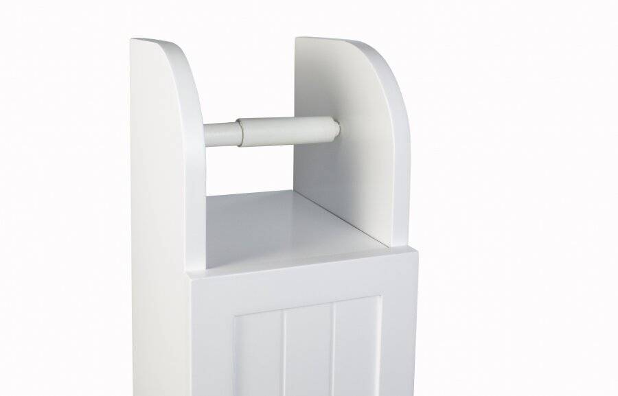 Woodluv Free Standing premium Quality MDF Toilet Tissue Holder-White