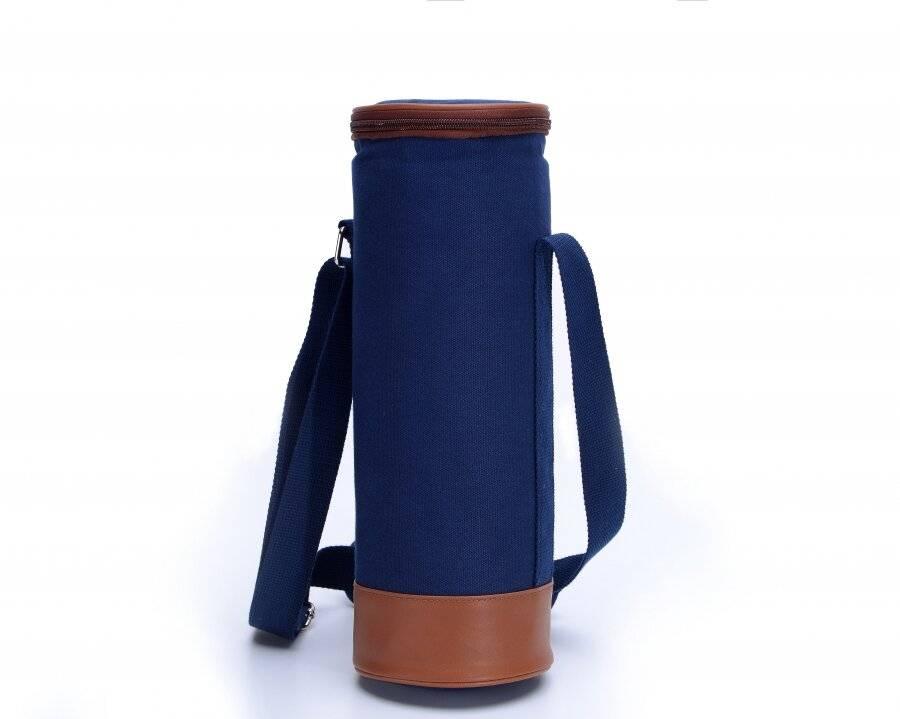 Woodluv Insulated Bottle Holder Bag With Carry Handle & Shoulder Strap