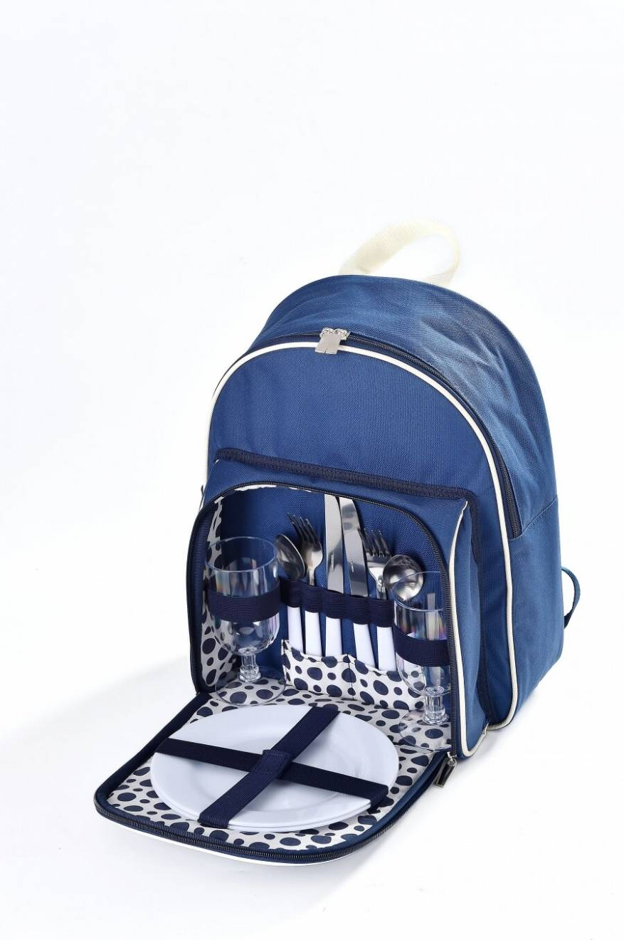 Woodluv Insulated Picnic Backpack For 2 Persons - Blue