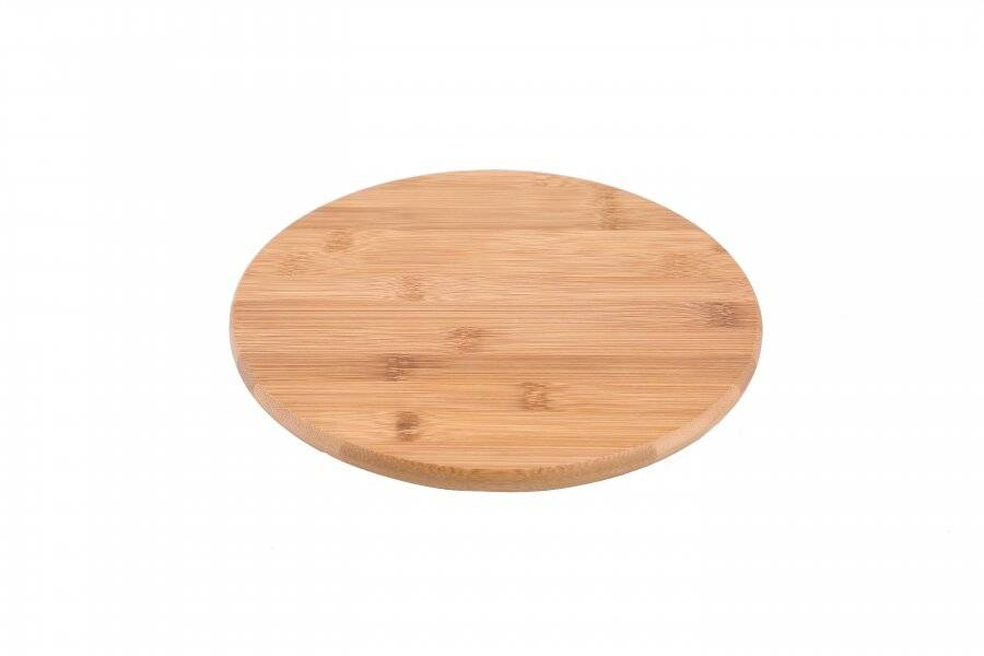 Woodluv Luxurious Bamboo wood Lazy Susan Cake Decorating Unit- 25 cm