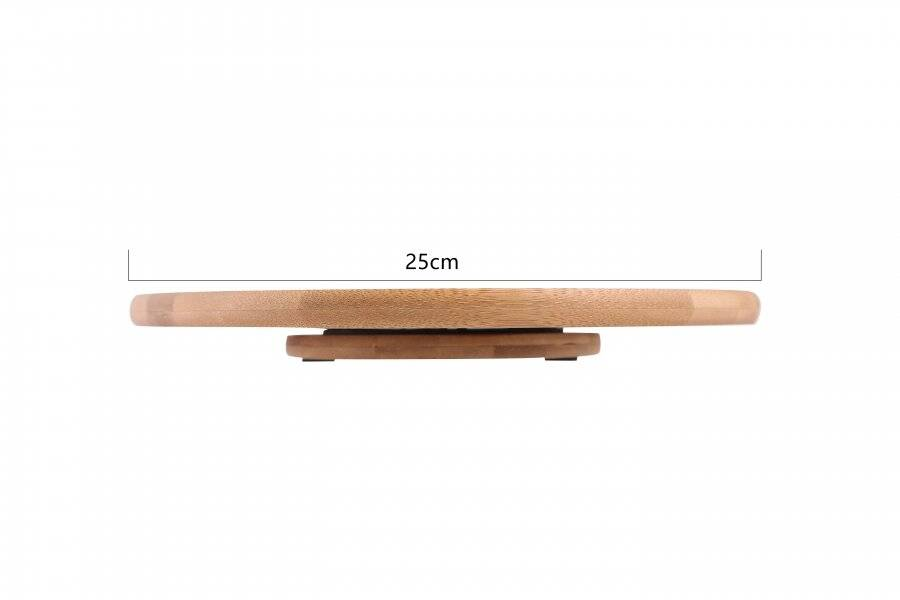 Woodluv Luxurious Bamboo wood Lazy Suzan Cake Decorating unit- 25 cm