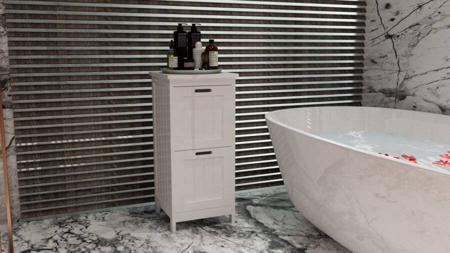 Woodluv MDF Bathroom, Bedroom Hallway Freestanding Storage Unit