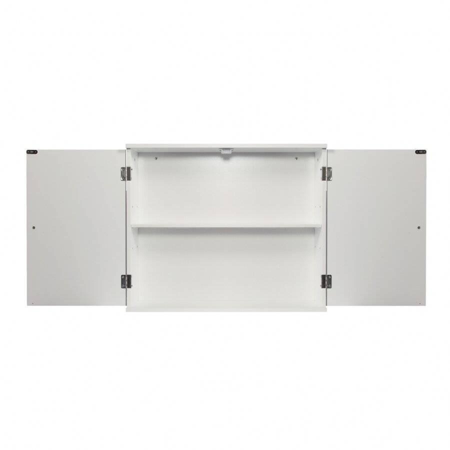 Woodluv MDF Wall Mounted Storage Cupboard unit - White