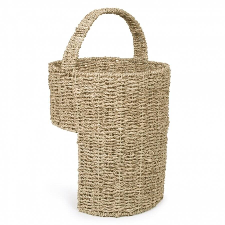 Woodluv Natural Seagrass Handwoven Storage Stair Basket