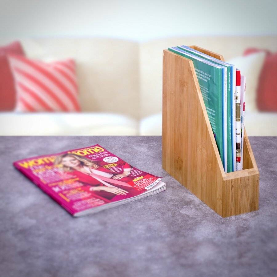 Woodluv Premium Quality Bamboo Magazine, File & A4 Size Paper Holder