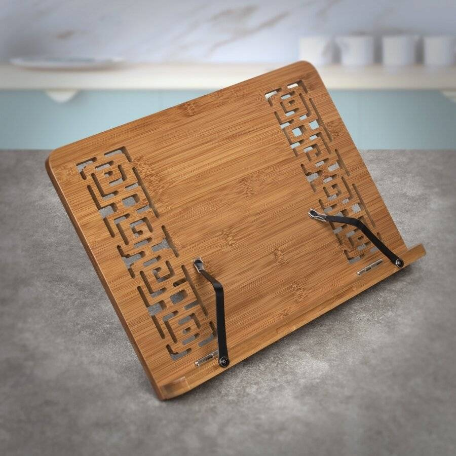 Woodluv Premium Quality Bamboo Wood Cook Book Holder