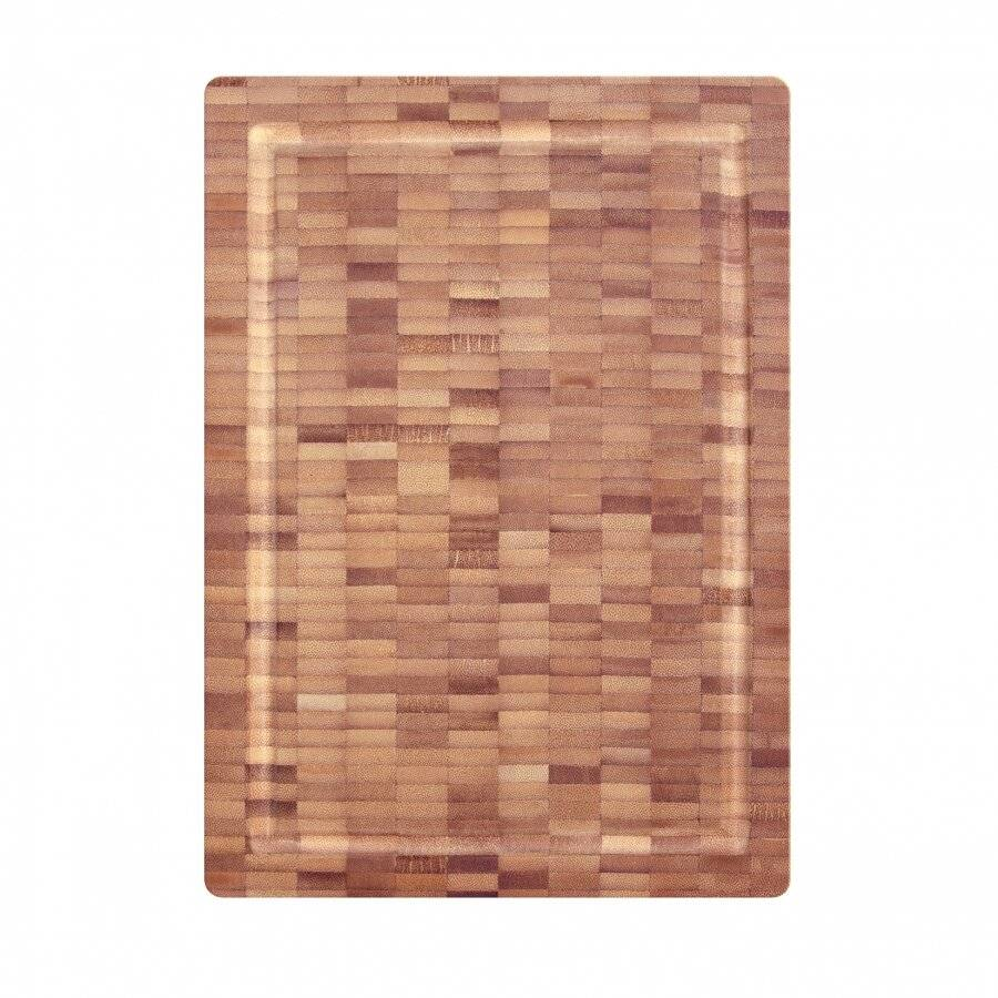 Woodluv Professional Bamboo Chopping Board With Juice Grooves and Handles