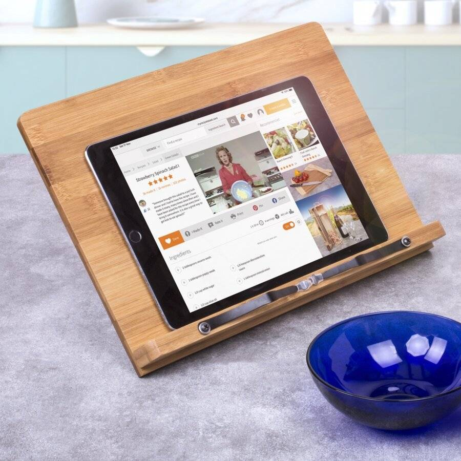 Woodluv Professional Bamboo, Reading Foldable Cook Book Stand