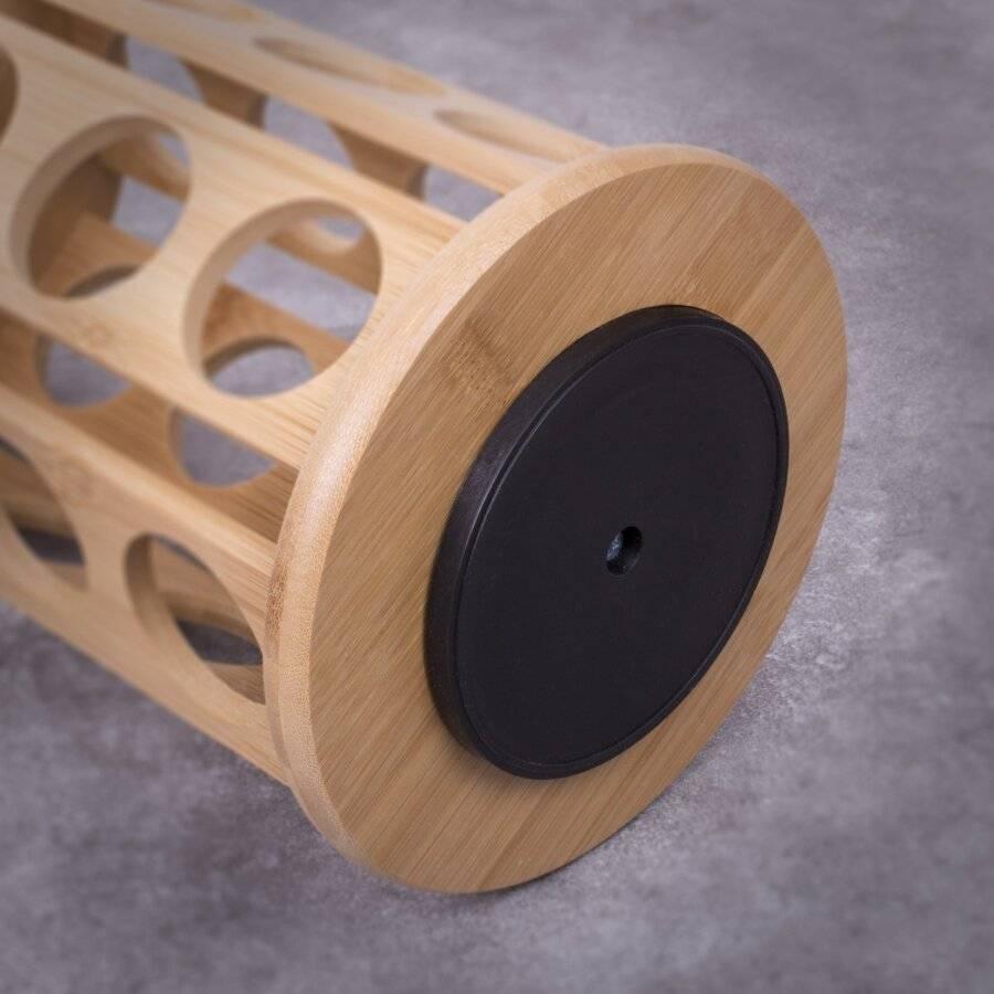 Woodluv Rotating Carousel Bamboo 24 Coffee Pod Organizer