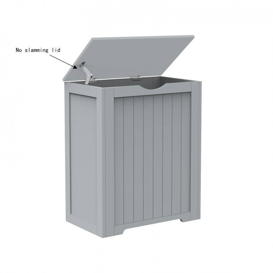 Woodluv Shaker Style Large Laundry Linen Basket - Grey