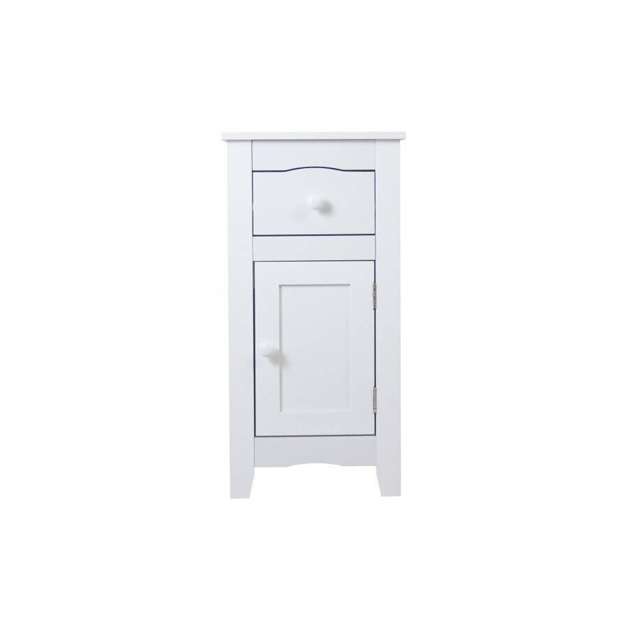 Woodluv Slimline Range Bedside Table Cabinet- White