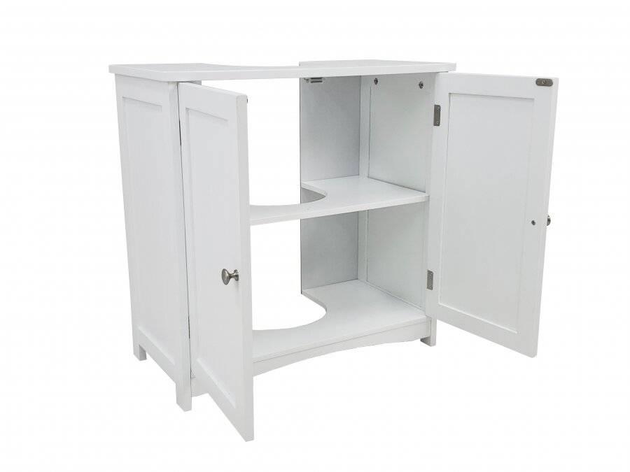 Woodluv Under Sink MDF  Bathroom Storage Cabinet - White