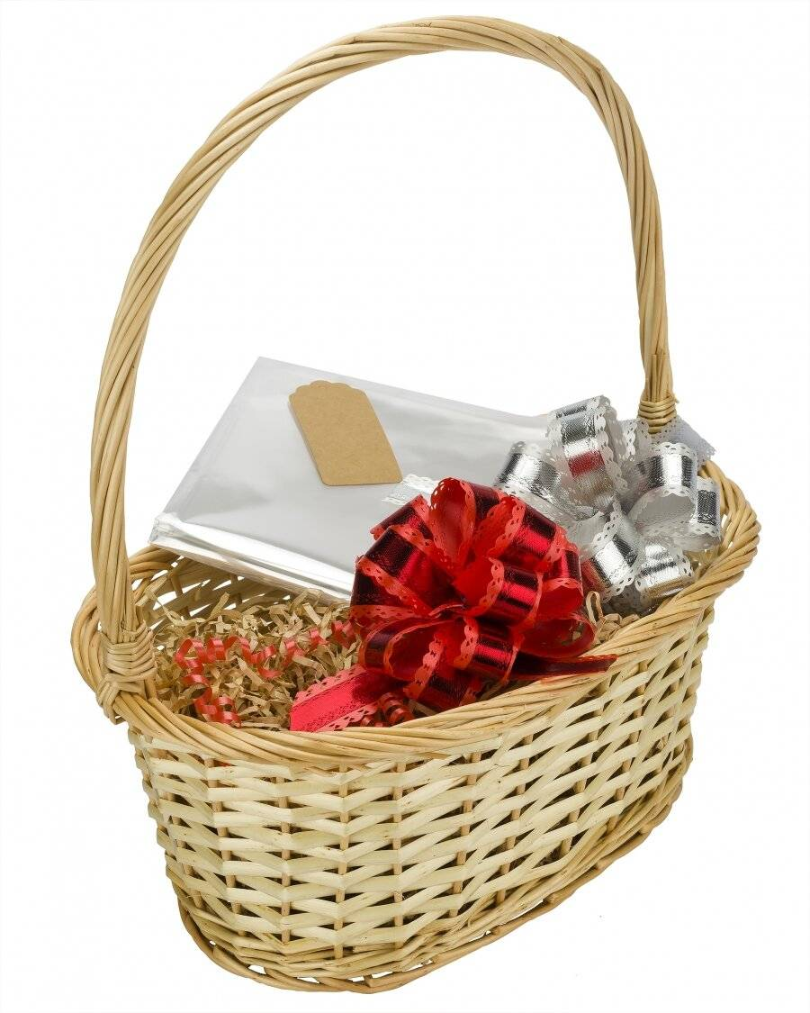 Woodluv Create Your Own Gift Hamper Wicker Basket With Handle