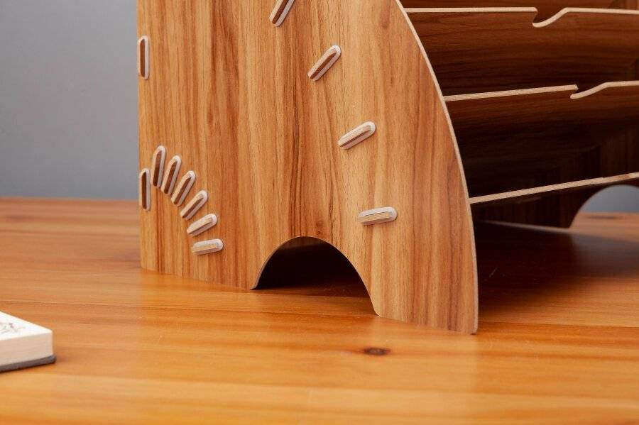 Woodluv Wooden Documents, Paper or File Organizer For office & Home