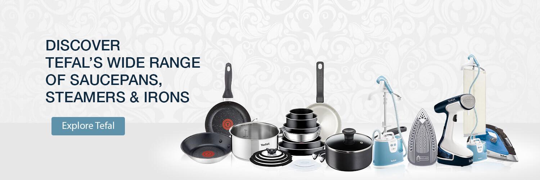 Tefal, Saucepans and Steam Iron